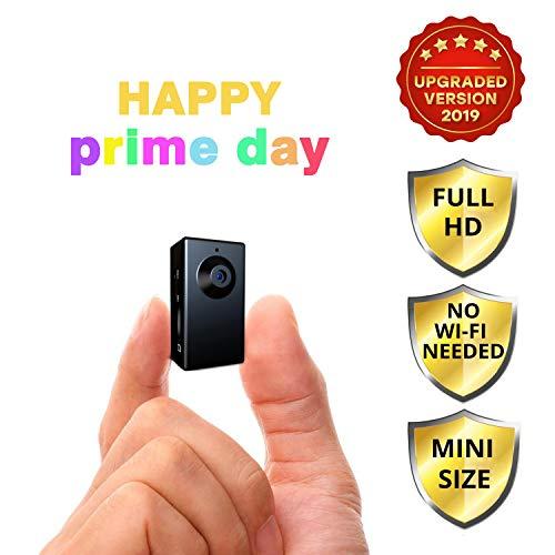 Spy Camera no WiFi Needed - Hidden Camera Motion Activated - Mini Body Camera - Nanny Hidden Small Wireless Cameras - Tiny Spy Cam - Spy Hidden Cameras for Home - Easy to Use Portable Hidden Recorder