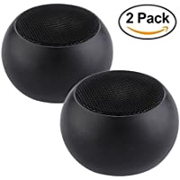 Wireless V4.1 Bluetooth Speaker Mini Metal Body, Rechargeable 400mAh Battery/Built-in Mic/Dual-Driver Portable Wireless Speaker with Low Harmonic Distortion and Superior Sound - 2 Pack