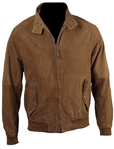 Bomber Brown Fashion Men's Classyak Scamosciata Da In Uomo Pelle giacca Suede t6wtvqT