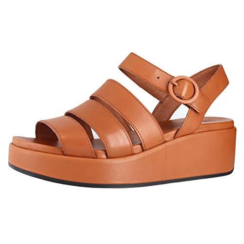 Camper Misia Medium Brown Womens Wedge Sandals Size 35M (Camper Shoes Women 35)