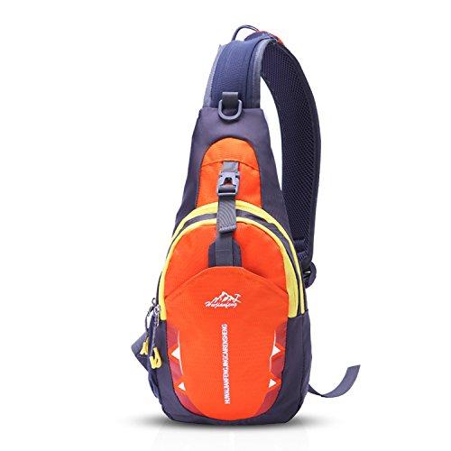 FANDARE Sling Bag Shoulder Backpack Cycling Crossbody Bag Single One Strap  Backpack Running Hiking Outdoor Travel Men Women Polyester Black 68cc556ad2