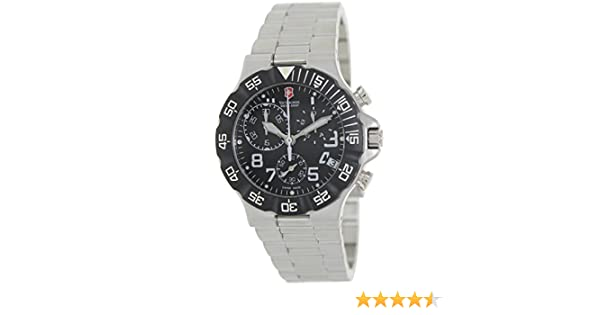 Amazon.com: Mens Stainless Steel Summit Chronograph Black Dial Bezel: Victorinox Swiss Army: Watches
