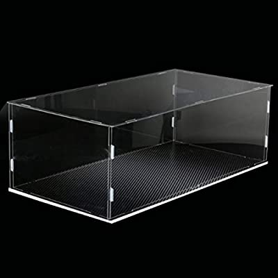 Lingxuinfo Display Case Showcase Storage Box Compatible with Lego Bugatti Chiron 42083, Acrylic Clear Display Case/Box Dust Proof Show Box ( Lego Set not Included ): Toys & Games