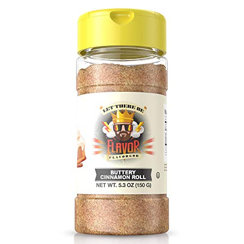 (#1 Best-Selling 5oz. Flavor God Seasonings - Gluten Free, Low Sodium, Paleo, Vegan, No MSG (SINGLE SEASONING) (Buttery Cinnamon Roll, 1 Bottle) )