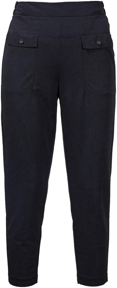 Pantalones Ajustados Adelgazantes Finos De Verano Para Mujer Pantalones De Haren Negros De Cintura Alta Rectos Y Rectos Pantalones Casuales Sueltos De Gran Tamano Amazon Es Ropa Y Accesorios