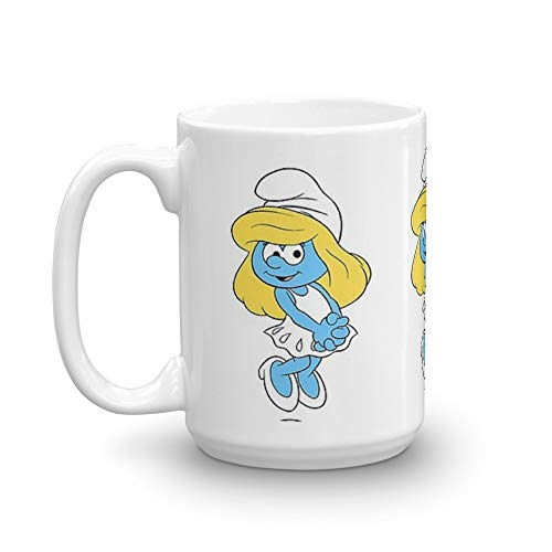 (Smurfs. 15 Oz Ceramic Glossy Gift For Coffee Lovers Quote Mug Gifts For Men & Women. 15 Oz Ceramic Coffee Mugs With C-shape Handle, Comfortable To Hold)