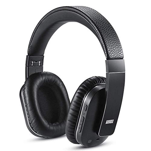 August EP750 Active Noise Cancelling Headset Bluetooth Over-Ear Stereo Headphones with Microphone and aPTX