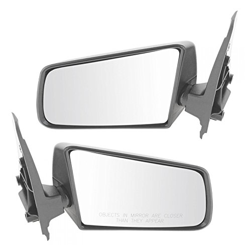 3x5 Black Manual Mirrors Pair Set of 2 LH RH for Jimmy Blazer Pickup Truck (Gmc S15 Pickup Mirror)