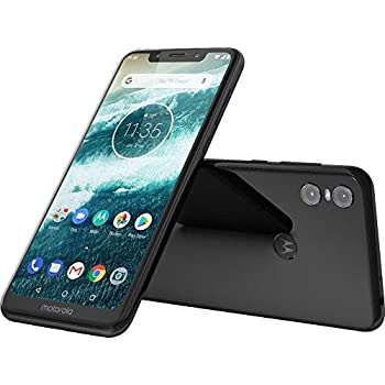464342568 Motorola Moto One - Android One - 64 GB - 13+2 MP Dual Rear Camera - Dual  SIM Unlocked Smartphone (at T T-Mobile MetroPCS Cricket H2O) - 5.9