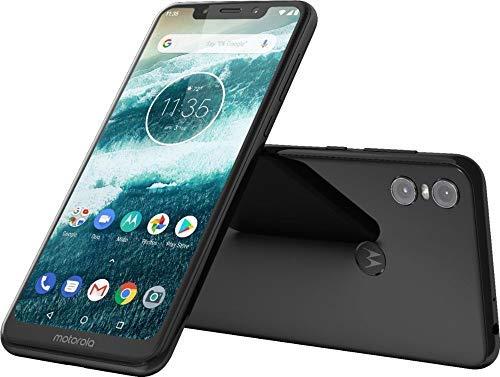 "Motorola Moto One - Android One - 64 GB - 13+2 MP Dual Rear Camera - Dual SIM Unlocked Smartphone (at&T/T-Mobile/MetroPCS/Cricket/H2O) - 5.9"" HD+ Display - XT1941-3 - (International Version) (Black)"