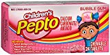 Children's Pepto Chewable Tablets Bubble Gum Flavor - 24 Tablets, Pack of 2