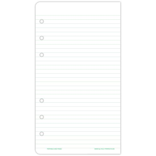 Day-Timer 87128 Lined Note Pads for Organizer, 3 3/4 x 6 - Day Timer Lined Notes