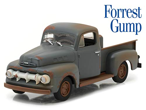 1951 Ford F-1 Pickup Truck (Run Forest, Run) Forest Gump (1994) Movie 1/43 Diecast Model Car by Greenlight 86514 ()