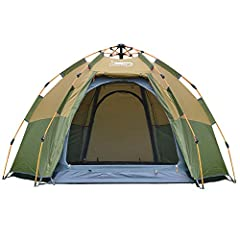 Feature: Instant Setup and offIt is pop-up tent, unfold the tent and lift up tent frame to complete build within 60 second. Press and fold tent frame can quickly dismantle.Waterproof & UV-protectionDouble layer 4 season tent, high quality...