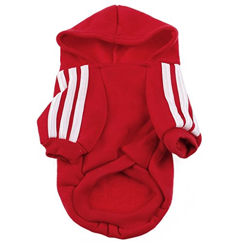Itemap Pet Dog Adidog Cute Warm Hoodie Coat Jacket Casual Clothing Winter Red (9XL)