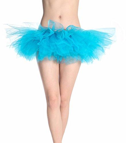 Clubwear Donna Gonna Landove Partito Sottogonne S Turchese Vestito Organza Rockabilly Taglia Sexy Ragazza Skirt Layered Mini Abito Pizzo Sottoveste Petticoat Principessa Tulle Ballerina Tutu Ballo Danza FtFqB5