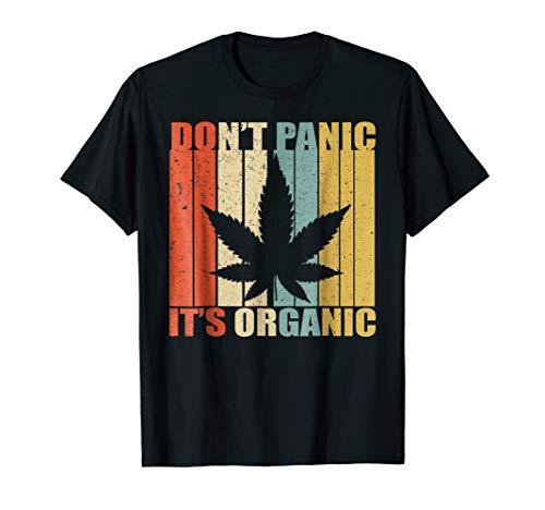 Don't Panic It's Organic Weed Shirt Funny Marijuana Shirt
