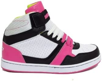 Pink Ankle High Hi-Top Trainers Women