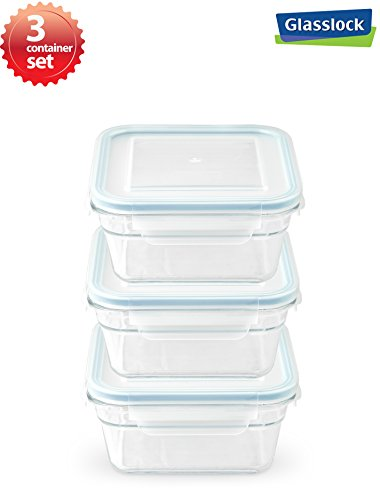 Snaplock Lid Tempered Glasslock Storage Square Container Air
