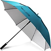 ZEKAR 54/62/68 inch Windproof Large Vented Golf Umbrella, Including Classic & UV Protection Version, Double Canopy Rain and Sun Umbrellas