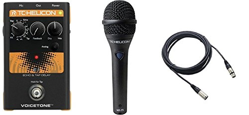 TC Helicon VoiceTone E1 and TC MP75 Mic and Cable Bundle by TC Electronic