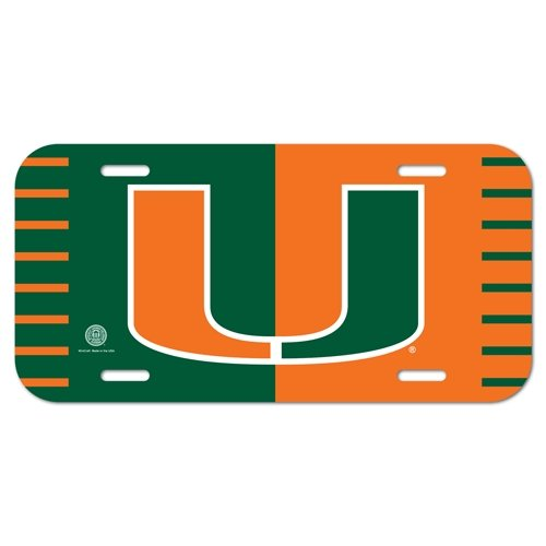 - WinCraft NCAA University of Miami (Florida) License Plate