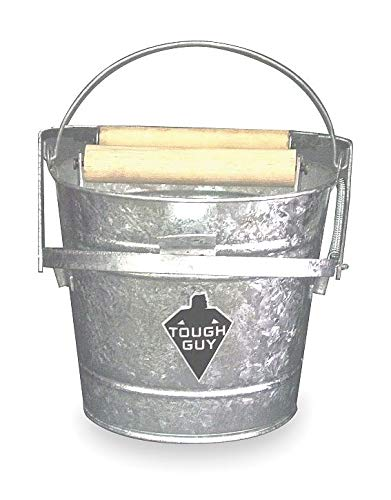 Tough Guy Silver Galvanized Steel Mop Bucket and Wringer, 3 gal. - 2MPE1 ()