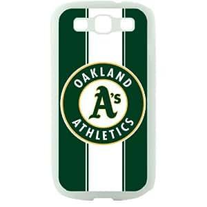 MLB Major League Baseball Oakland Athletics Samsung Galaxy S3 SIII I9300 TPU Soft Black or White case (White)