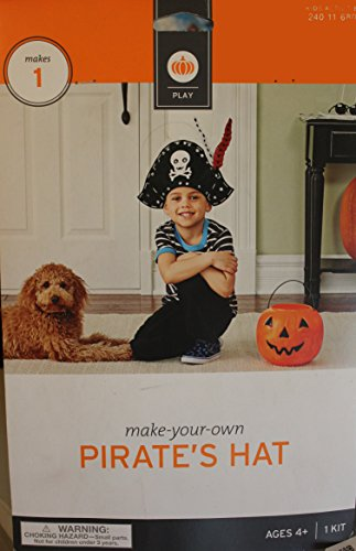 Make Your Own Pirate Costume Child (Make Your Own Pirate's Hat Costume Accessories NWT Kids One Size)