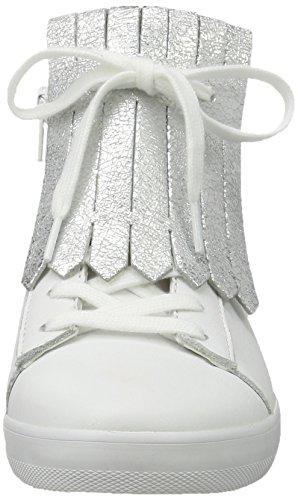 Gabor 50 Scarpe weiss Basse Comfort silber Da Bianco Donna Ginnastica 66w7rqF