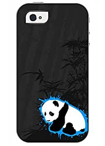 OUO Unique Fashion Design Snap on Iphone 4 4S 4G Hard Shell Case with Picture of Cute Panda
