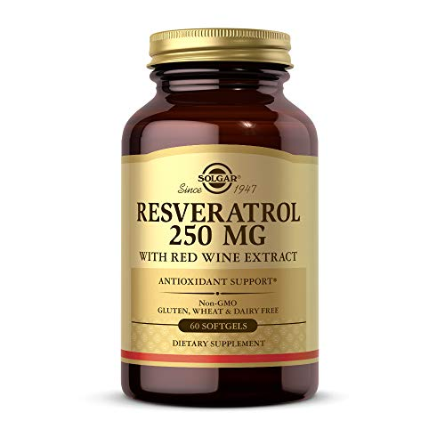 Solgar - Resveratrol with Red Wine Extract, 250 mg, 60 Softgels