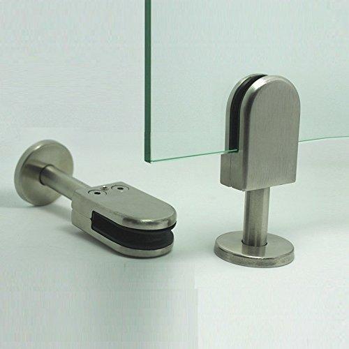 Soporte de acero inoxidable en forma de U para paneles de cristal sin marco LuKLoy 304