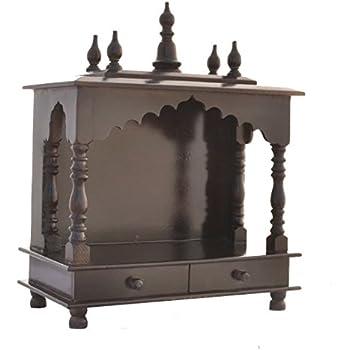 Amazon Com Mereappne Wooden Pooja Mandir Indian Hindu