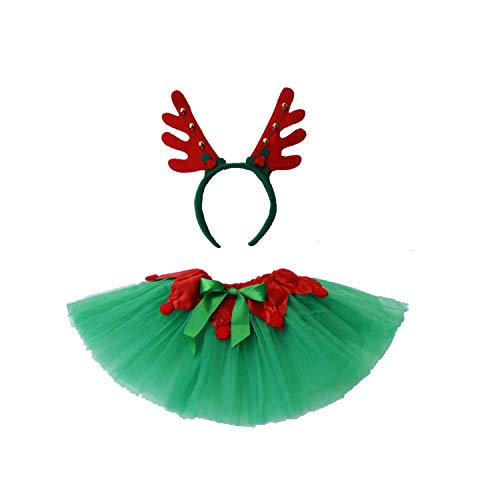 Dreamdanceworks St Patrick's Day Green & White Shamrock Clover Costume Tutu