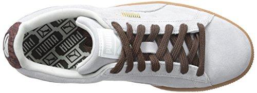 Puma Mænds Ruskind Klassiske Afslappet Mode Sneakers Gletscher Grå / Okseblod muJm7ETj