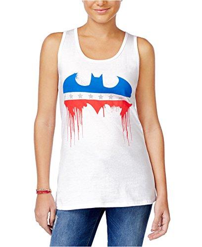 Batman+tank+top Products : DC Comics Batman Stars and Stripes Juniors White Racerback Tank Top