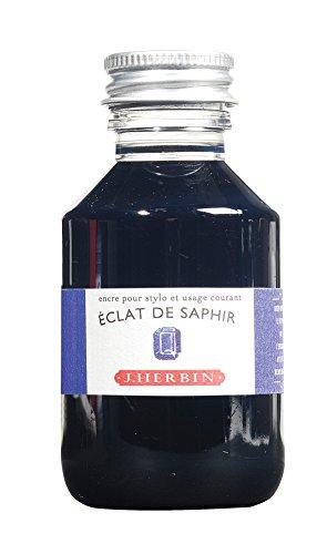 J. Herbin Fountain Pen Ink - 100 ml Bottled - Eclat de Saphir by Herbin (Image #1)