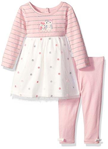 Little Me Baby Girls Knit Dress with Legging Set