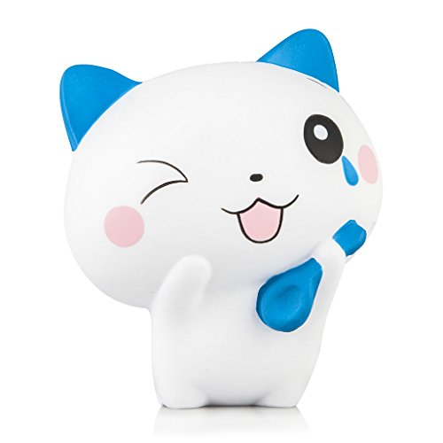 Squishies Slow Rising - Jumbo Kawaii Cat Squishy, 20+ Second Rise Time, Super Soft, Scented Stress Relief Kawaii Toys | Exclusive Licensed WOOW Designs for Kids and Adults by Oh So Squishy