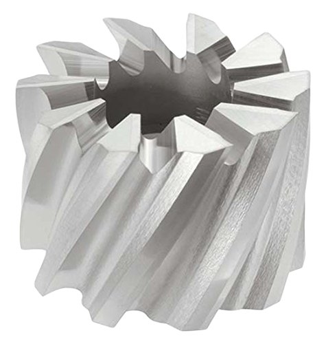 SMM42 Style HSCO TiN Coating KEO Milling 09923 Right-Hand Cut Shell End Mill 1 Width 1-1//4 Cutting Diameter 8 Teeth 1//2 Arbor Hole