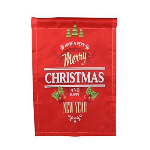 Happy Thanksgiving &Merry Christmas Garden Flags House Decor Mini Yard Banner 12'' x 18'' (L) for sale