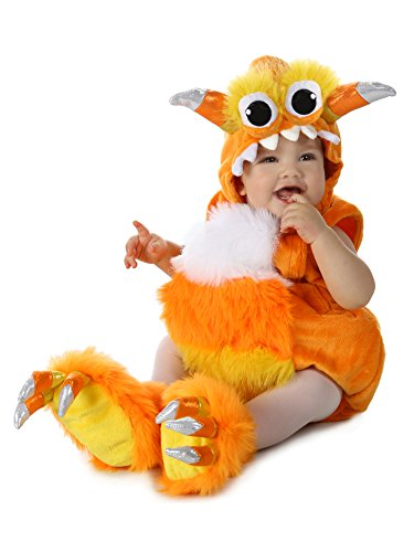 Princess Paradise Baby Candy Horn Monster Deluxe Costume, Orange/White 12 to 18 Months