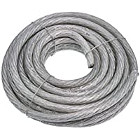 Conext Link 25 FT 4 AWG GA Full Gauge Battery Power Cable Ground Wire Clear Silver OFC Copper