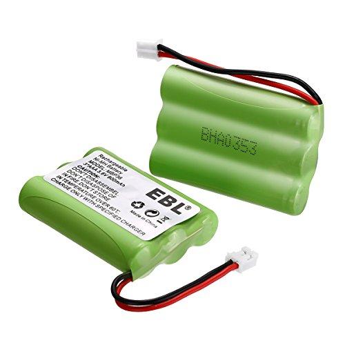 2 Pack EBL TFL3X44AAA900 Motorola Baby Monitor Batteries 3.6V 900mAh Ni-MH for Motorola MBP36 MBP27T MBP33 MBP33S MBP33PU MBP36S MBP36PU by EBL (Image #2)