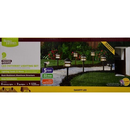 Better Homes and Gardens 8-Piece Frayser QuickFIT LED Pathway Lighting Set