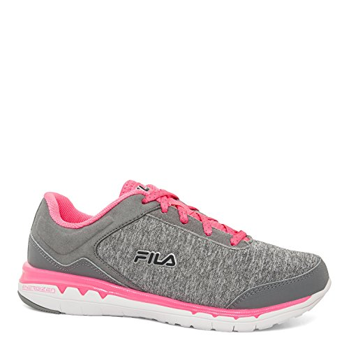 Fila Women's Octave Energized Fashion Sneakers, Gray Leather, Synthetic, Mesh, 7 M