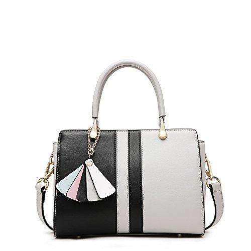 GUANGMING77 _ Borsetta Crossbody Bag Pacchetto Platinum,Colore Nero Cenere Mista Black mixed ash