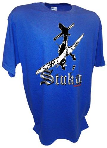 Achtung T Shirt LLC Men's Stuka Dive Bomber Ju 87 Blitzkrieg Warplanes WW2 German T Shirt -