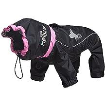 Dog Helios Weather-King Windproof and Waterproof Heat Retentive Adjustable Full Bodied Pet Dog Coat Jacket with Blackshark Technology, Jet Black, Extra Large